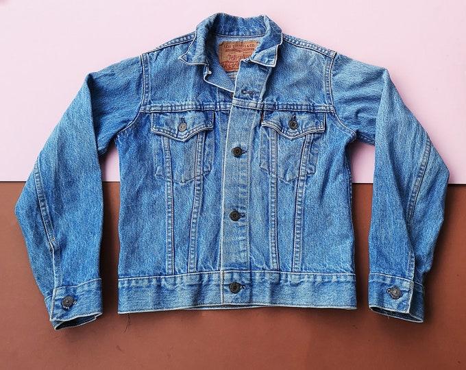 Vintage Kids Levi's Light Blue Denim Jacket 8-10 Y, vintage kids unisex, grunge jacket coat