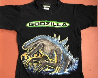 Godzilla Movie / 1998 Tristar Pictures Inc / Retro / Promotional Merchandise / Science Fiction Top T Shirt Child 5-7 Y