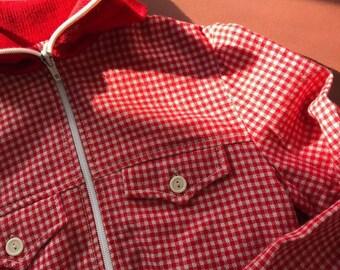 1e67f2e74da7 Vintage Children s Unisex Red Checked Spotty Hennes 80s