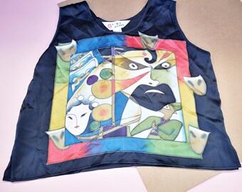 Vintage Kids 100% Silk Jue Ren Chinese Blouse Top 5-7 Y