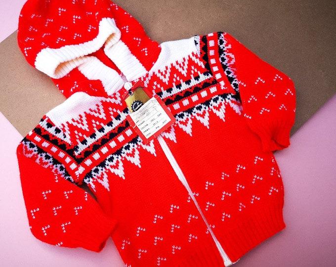 Vintage Baby Deadstock Eastern European Cardigan 1 Y