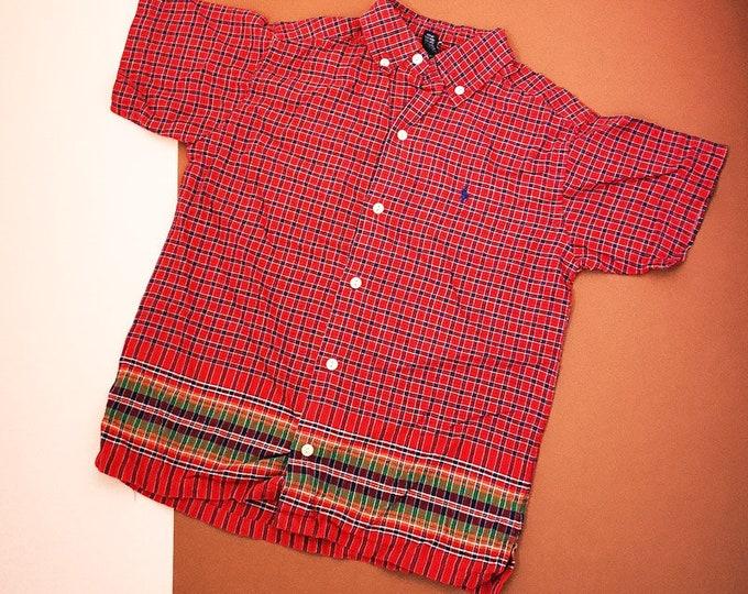 Vintage Kids Ralph Lauren 90s Check Short Sleeve Shirt 5-6 Y
