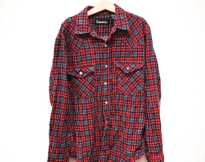 Vintage Children's TimberRidge 90s Flannel Red Lumberjack Shirt 8 Y, retro kids, classic, prop, rockabilly, tv, wardrobe