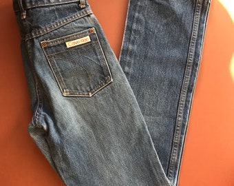 Vintage Children's Calvin Klein Made in USA Grunge Classic American Utility Workwear Chore Denim Jeans 8-10 Y