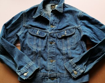 Vintage Kids Lee Riders Blue Denim Jacket 6-8 Yrs, denim, chore, utility
