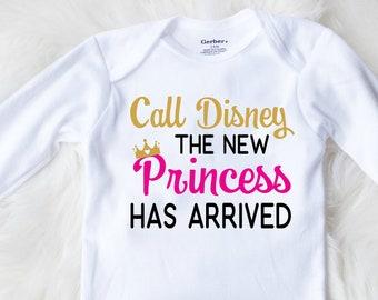 3a3ba0e2d Disney Pregnancy Announcement onesie, Disney Baby Onesie, Disney Princess  Onesie, New Baby Announcement, New Baby Coming Home Outfit