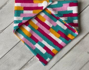 Pet Bandana - Paint Stripes Flannel