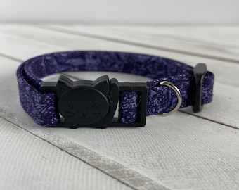Cat Collar - Breakaway - Fairy Frost Purple - 3/8 inches wide