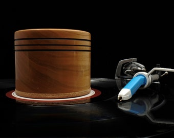 Vinyl Record Stabilizer -  Weight - Clamp in Cherry