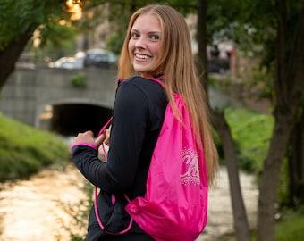 Personalized Draw String Backpack, Bling Backpack, Back to School Backpack, Custom Rhinestone Backpack, Custom Backpack