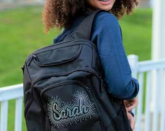 Personalized Backpack, Bling Backpack, Back to School Backpack, Custom Rhinestone Backpack, Custom Backpack