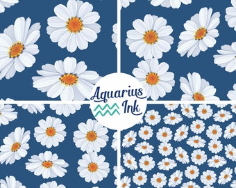 Pink SIMPLY DAISY Pattern HTV Heat Transfer Vinyl 12x18 Daisies Flower Pattern for Shirts