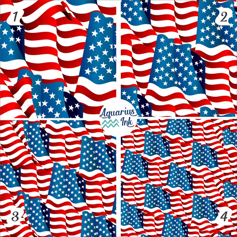 658a2157a08 Patriotic Vinyl 4th of July American Flag Patterned Vinyl