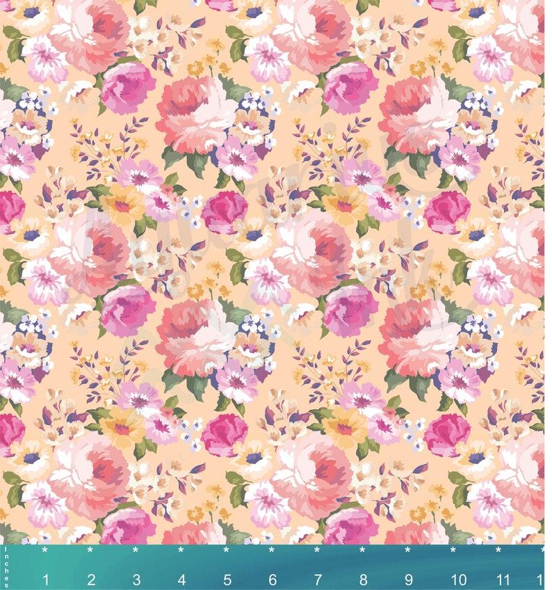 Heat Transfer or Outdoor Adhesive Vinyl     k126 Vintage Flower pattern Vinyl Sheets Floral Rose HTV Vinyl Bundle