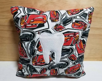Tooth Fairy Pillow Lightning McQueen Cars Inspired