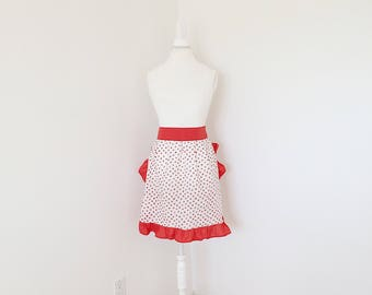 5-8 years red strawberry apron