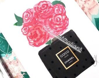 41ace51092b1 Chanel bag floral | Etsy