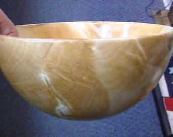 Bowl, handmade in Talkeetna, Alaska out of Birch Wood.