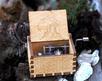The Little Mermaid Music Box - Custom Handmade Wooden Music Boxes and Songs with Stainless Steel Mechanisms by Music Chests