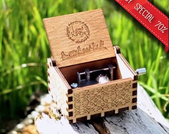 Lord of the Rings Music Box - Custom Handmade Wooden Music Boxes and Songs with Stainless Steel Mechanisms by Music Chests