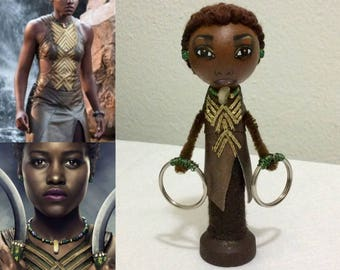 Black Panther Collection: Nakia handmade clothespin doll