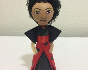 The Halloween Collection: Laydy bug handmade clothespin doll
