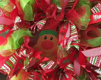 Mesh Christmas Wreath