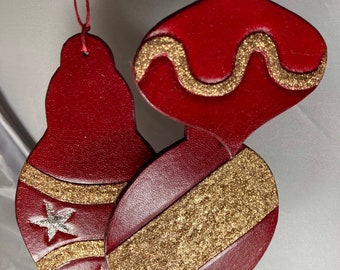 Ornaments Christmas tree - leather