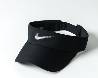 40be46787d952d Black Swarovski Nike Visor Hat | Golf Visor, Tennis Gifts, Golf Gifts for  Women, Golf Head Covers, Tennis Gift, Sun Visor