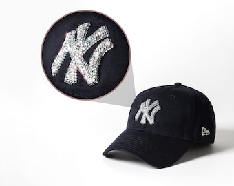 various colors fdedc 5cb6a Black Swarovski Embellished New York Yankees Hat   Baseball Cap Women,  Baseball Mom, New Era Mlb Hat, Ball Cap