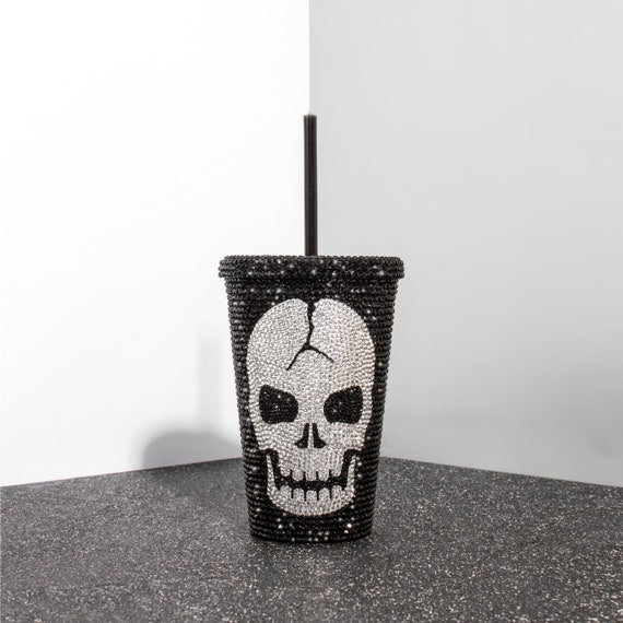 Starbucks Tumbler Skull Starbucks Cup Cold Coffee Tumbler With Straw