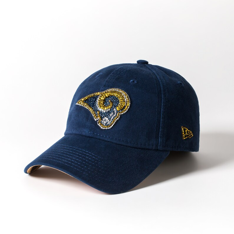 6999a7efeb120 Crystal LA Rams Baseball Cap Women NFL Ball Cap Baseball