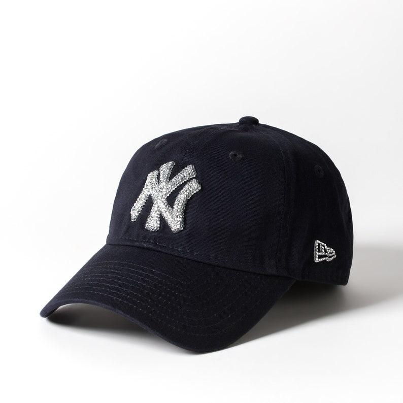 reputable site 4d118 16626 Black Swarovski New York Yankees Hat Baseball Cap Women   Etsy