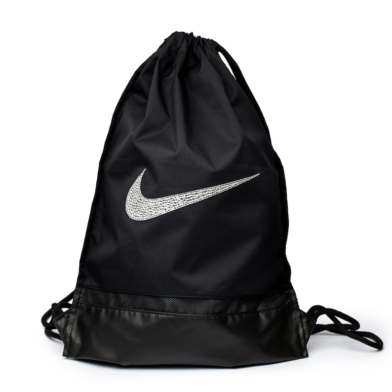 Bling Nike Drawstring Backpack Women Gym Bag Rucksack  1c6326d5f7