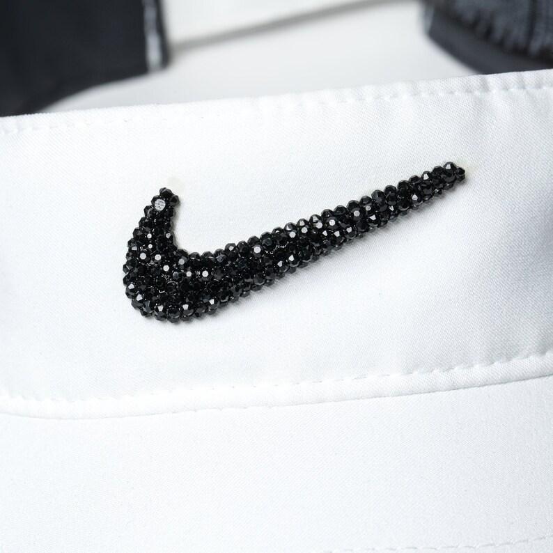 0b936018e85cac White Bling Nike Visor Hat Golf Visor Tennis Gifts Golf | Etsy