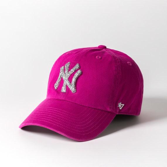 Rosa Nueva York Yankees Sombrero Gorra De Béisbol Mujeres Etsy