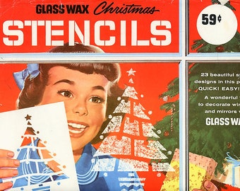 Vintage christmas stencil | Etsy