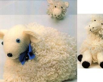 Vintage Knitting Pattern Knit Loopy Sheep and Loopy Lamb PDF Instant Digital Download Animal Amigurumi Ewe Lamb Stuffed Soft Toys 5 Ply