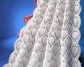 Vintage Crochet Pretty Lace Pineapple Afghan Pattern PDF Instant Digital Download Beautiful Throw Blanket 50x70