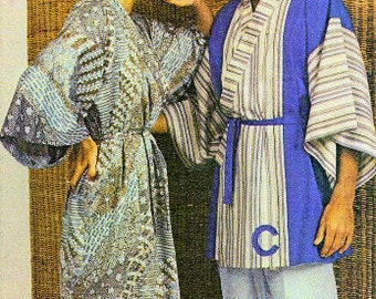 9366f8e05a Vintage Sewing Pattern Womens Mens Kimono PDF Instant Digital Download His  Hers Wrap Dressing Gown