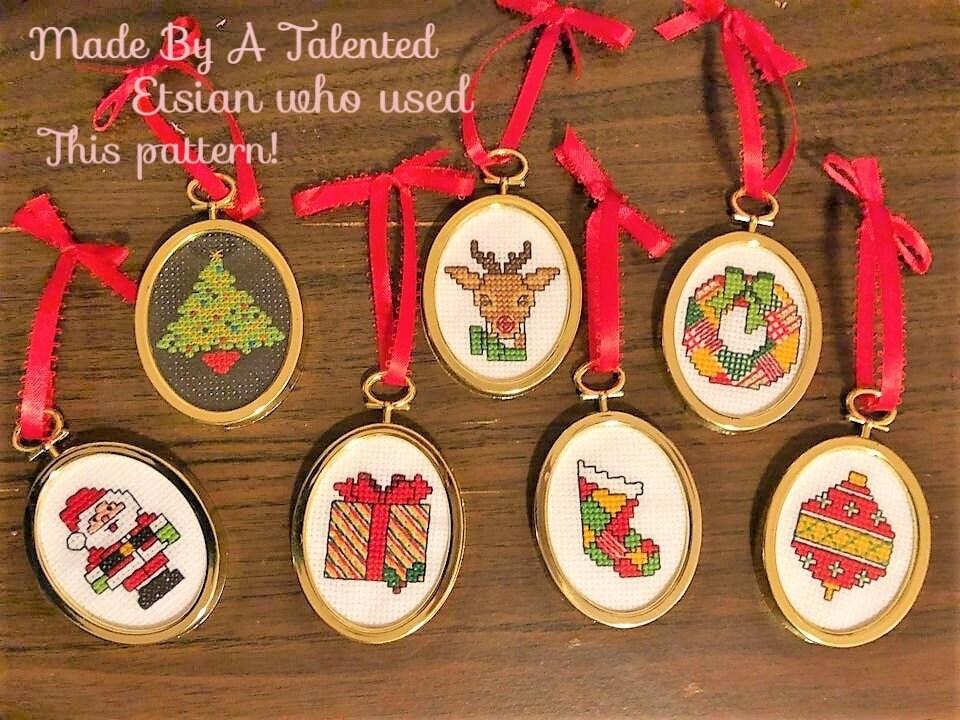 Vintage 1987 Mini Motif Christmas Counted Cross Stitch Kits NIP You Choose