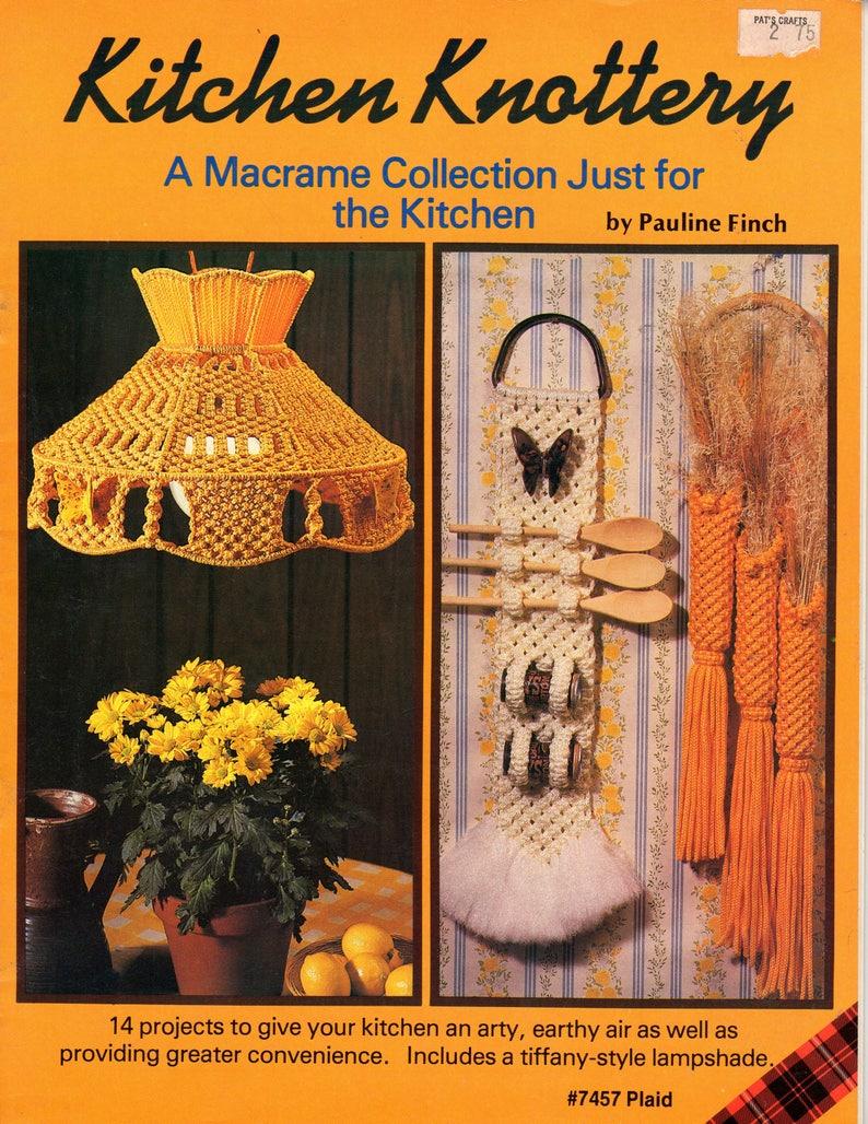 Vintage Kitchen Knottery Macrame Patterns Collection eBook PDF image 0