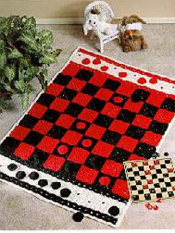 Vintage Crochet Pattern Checkerboard Afghan Pdf Instant Etsy