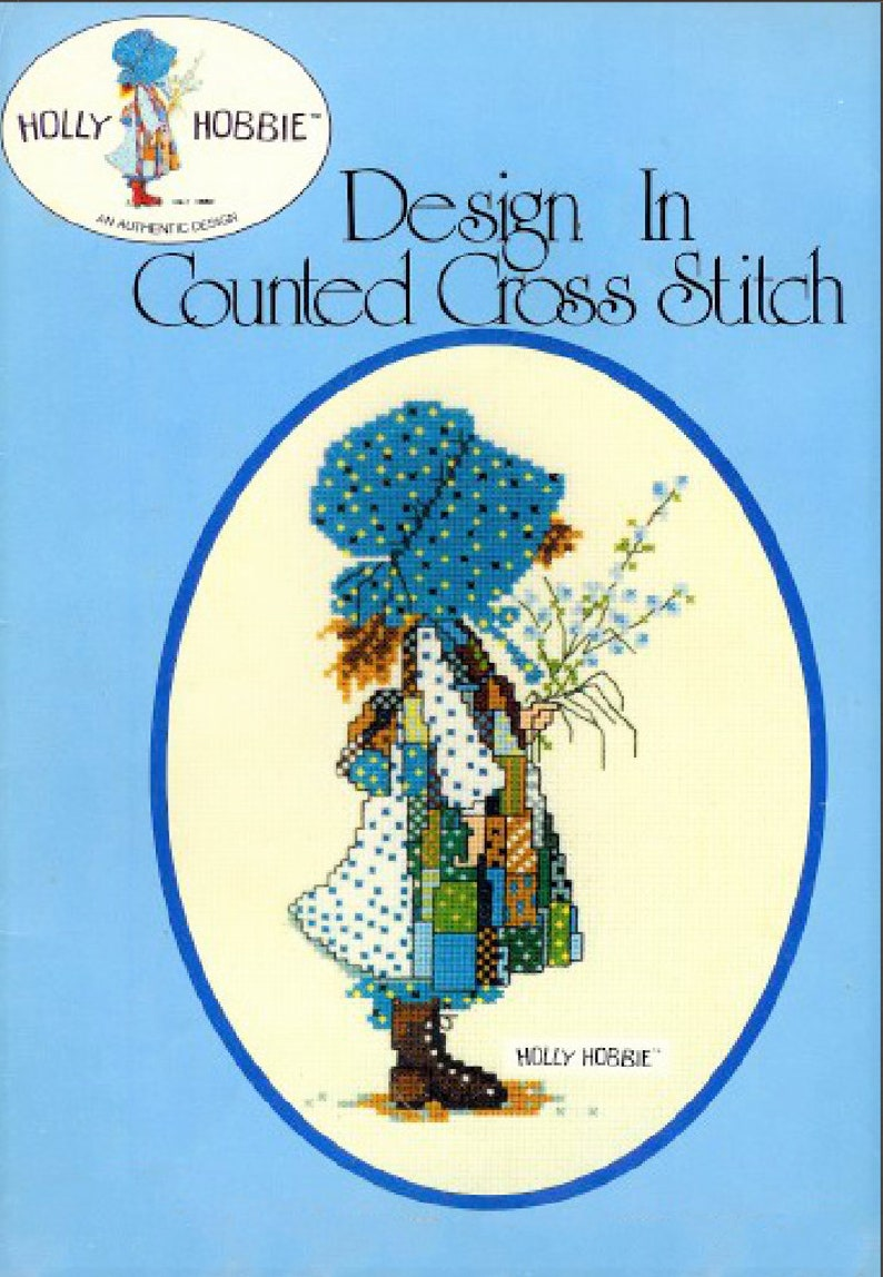 df86a8dcc Vintage Cross Stitch Pattern Classic Holly Hobbie PDF Instant