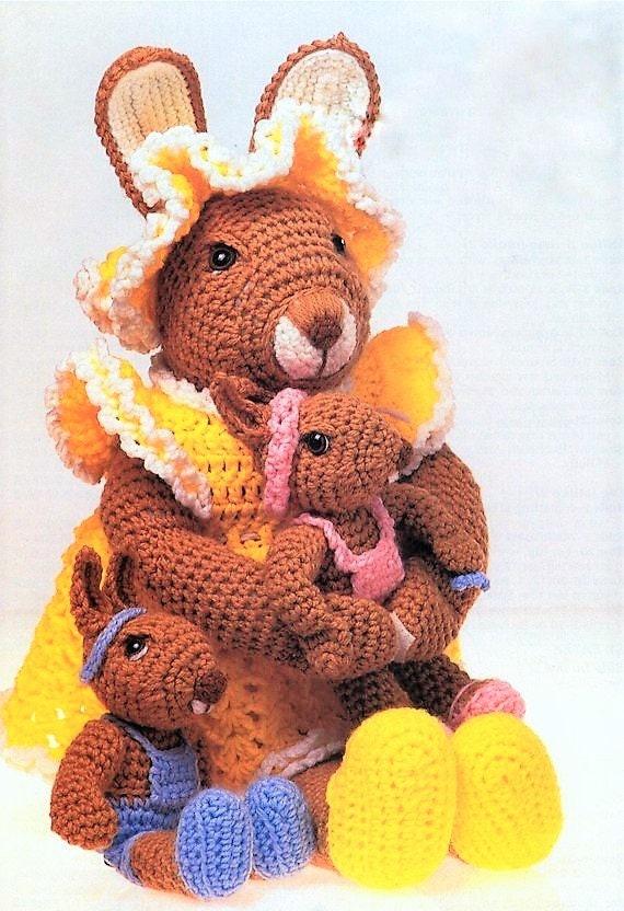 Amigurumi Bunny Family Handmade Animal Toys Crochet Stuffed Rabbit ... | 832x570