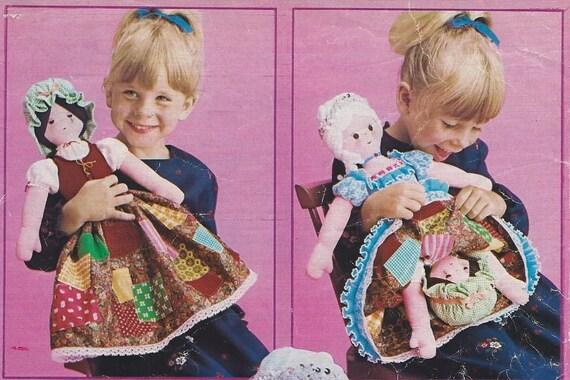 Vintage Sewing Pattern 1975 Fabric Cinderella Topsy Turvy Doll Etsy