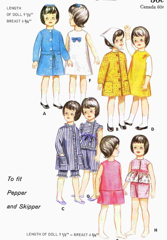 Barbie Vintage Doll Clothes WHOLE WARDROBE Pattern ~ Skipper Pepper
