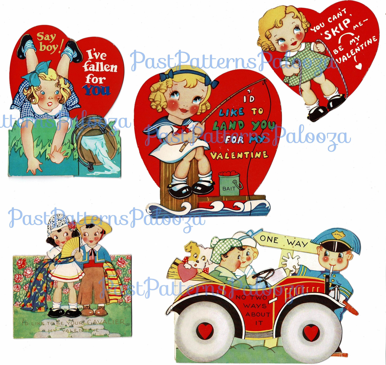 Printable True Vintage Valentines Day Cards Retro 1920s | Etsy