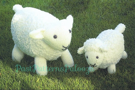 Vintage Knitting Pattern Knit Sheep And Lamb Pdf Instant Etsy