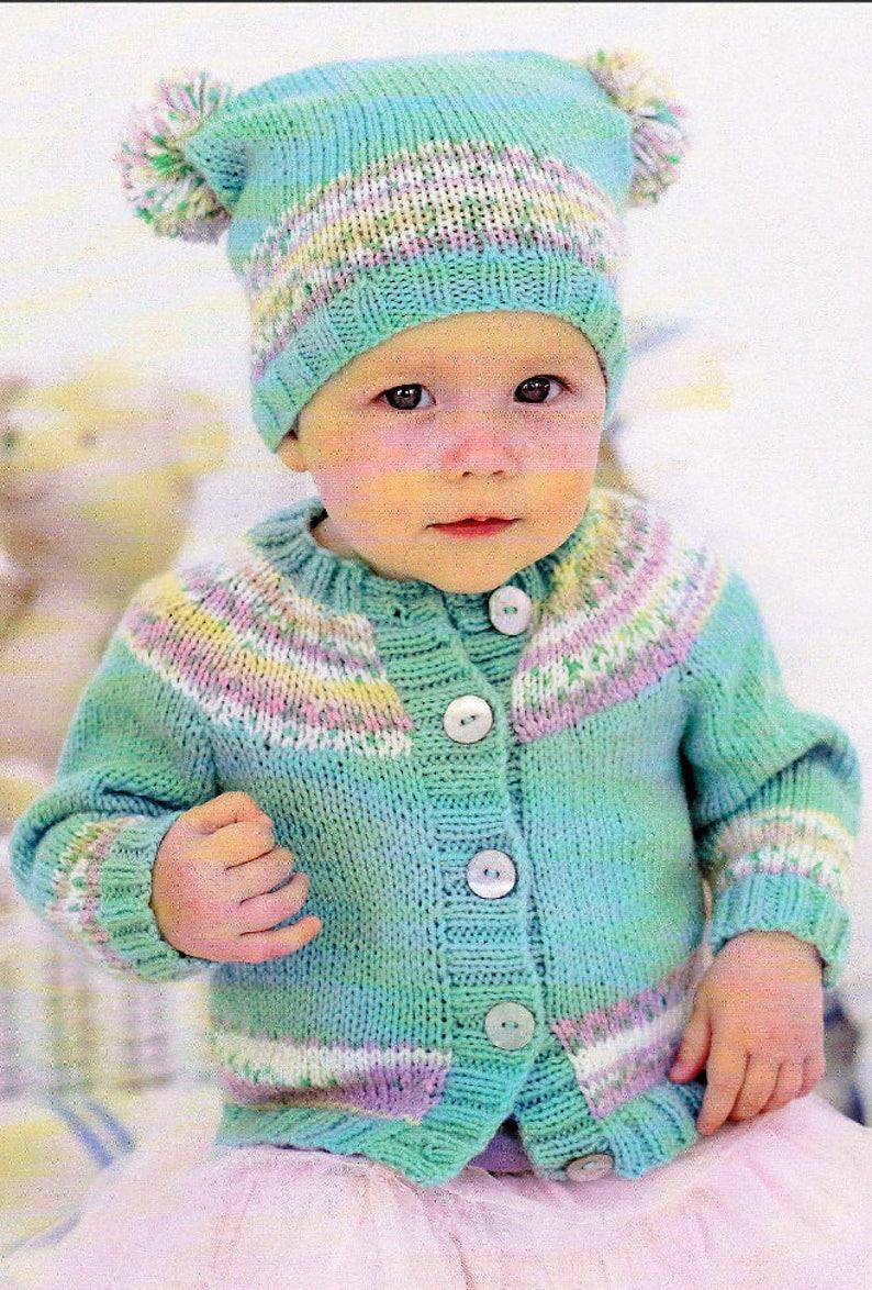 cdc4e854cb0b PDF Vintage Knitting Pattern Birth to 7 Years Knit Baby Girls